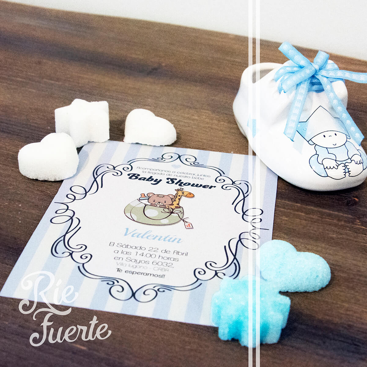baby shower invitación M.kids Valentin