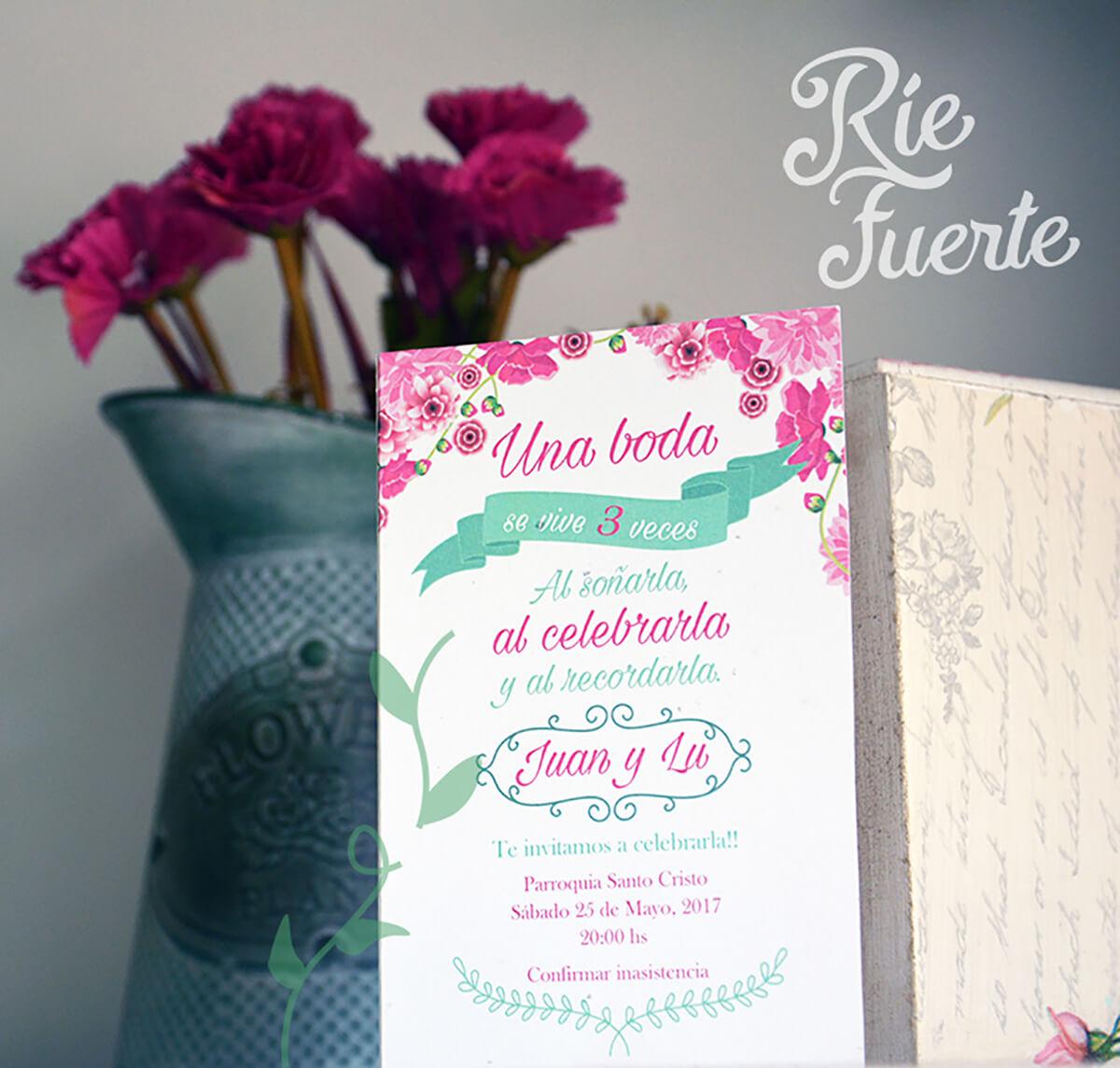casamiento invitación libro M. gardenia D